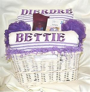 Couple's Bath Towel Gift Basket