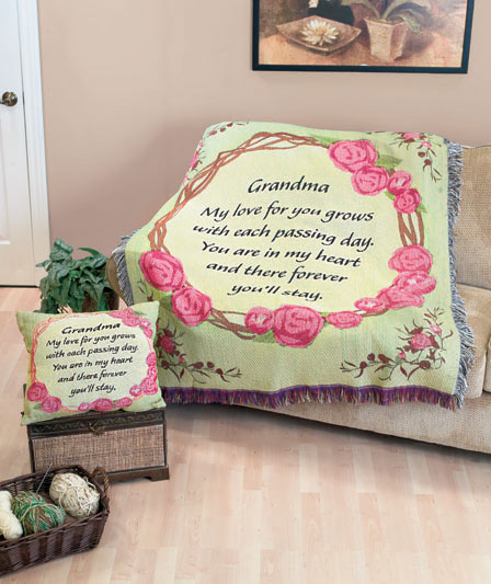 "Grandma Tapestry Throw 50"" x 60"" [Pillow Not Included]"